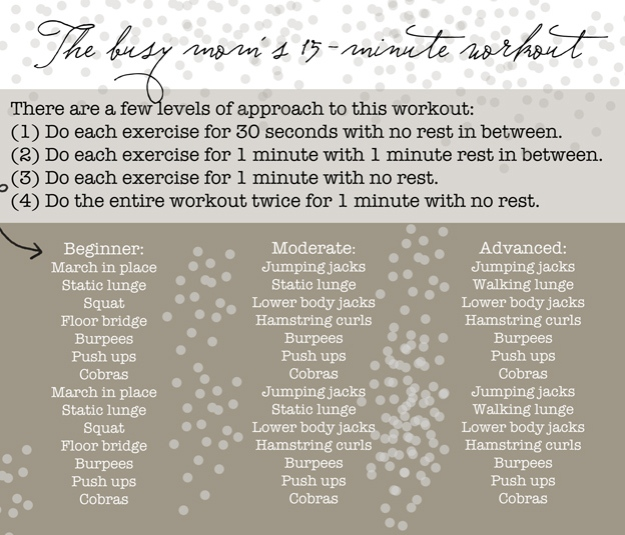 The Busy Mom's 15-Minute Workout | Faith and Composition