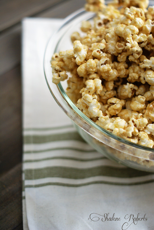 Peanut Butter and Honey Popcorn | Faith and Composition