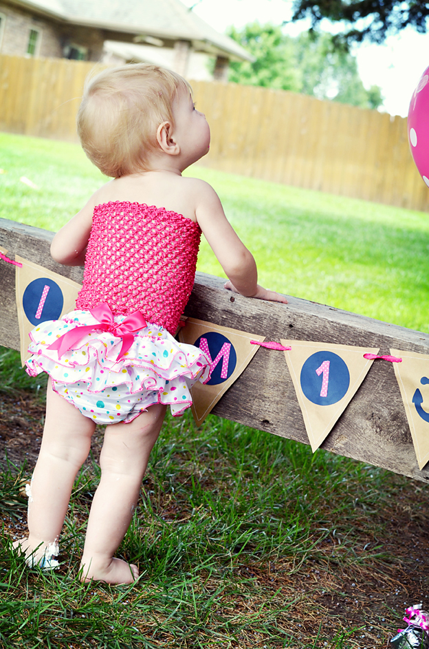 An anchor-themed first birthday