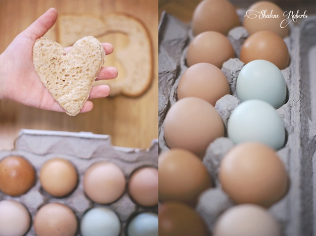 Heart-Shaped Eggs in a Pocket for Valentine's Day | Faith and Composition