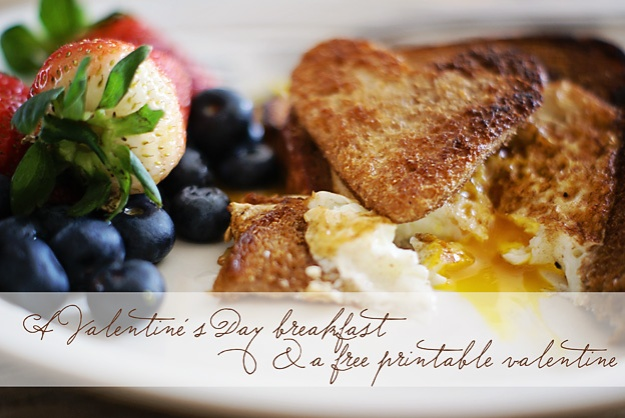 A Valentine's Day Breakfast + a FREE printable valentine | Faith and Composition
