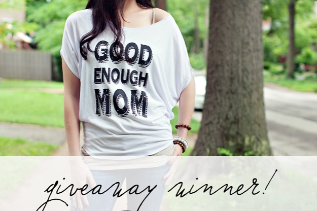 Good Enough Mom Giveaway Winner | Faith and Composition