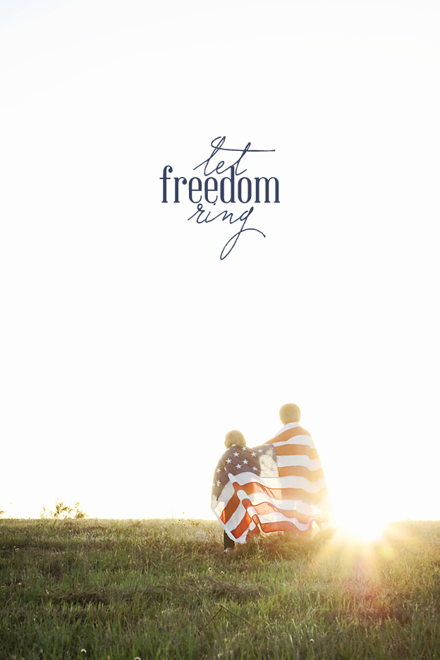 Stunning, FREE Fourth of July printable and iPhone wallpaper | Faith and Composition