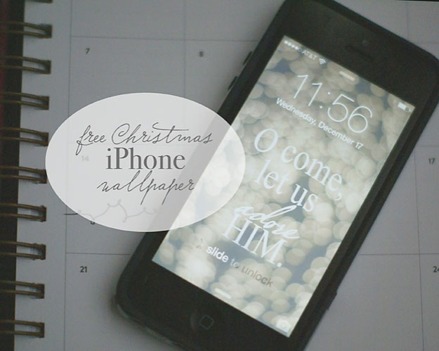 FREE O Come Let Us Adore HIm iPhone wallpaper | Faith and Composition