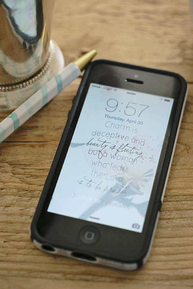 Free May Lock Screen and Verse | Faith and Composition